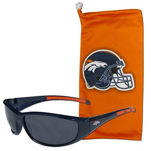 NFL Denver Broncos Adult Sunglass and Bag Set, Orange