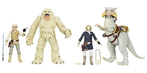 Black Series Star Wars 6-Inch Luke Skywalker and Wampa Figure and 6-Inch Han Solo and Tauntaun Action Figure