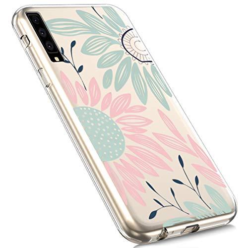 Coque Housse mince Etui Case De lapin Herbests A7 Silicone Marguerite Caoutchouc Bumper Protection Ultra Doux Galaxy Transparente Tpu 2018 pzdwxq48z