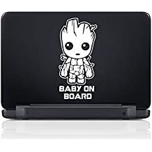 Baby on Board - Baby Groot - WHT - 1 - Vinyl Decal