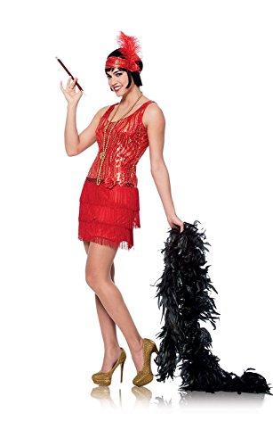 Costume Culture Women's Broadway Flapper Costume, Red, Medium (Group Costume Ideas)