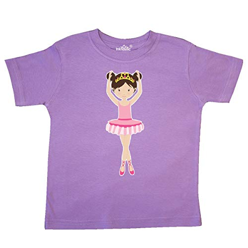 inktastic - Ballerina with Two Buns Toddler T-Shirt 4T Lavender 26684