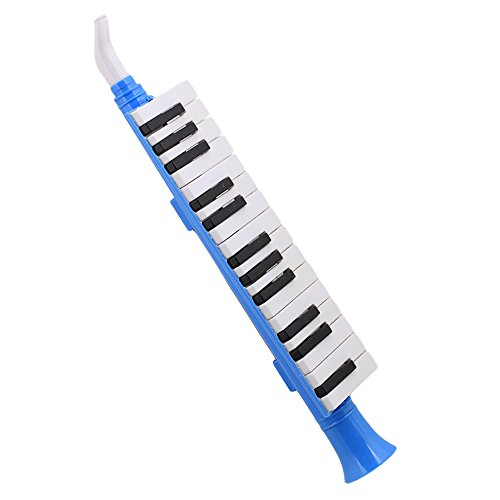 Mxfans Portable Black and White 27 Keys Note Wind Piano Mouth Organ Melodica Blue by Mxfans