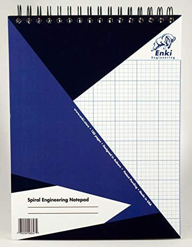 Engineering Paper Spiralblock, 200 Blatt, Blau