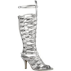 Fashion Thirsty Womens Gladiator Knee High Sandals Strappy Stiletto Party Heel Size 10