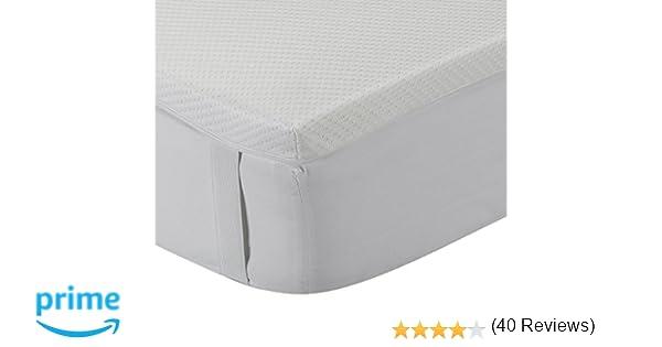 Classic Blanc - Topper/sobrecolchón viscoelástico confort plus, firmeza media, altura 5cm. 135x200cm-Cama 135 (Todas las medidas)