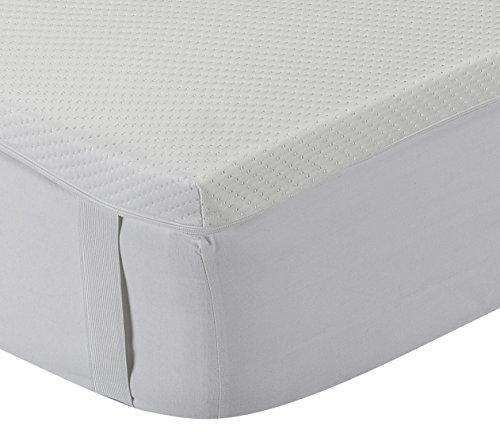 Classic Blanc - Topper/Sobrecolchon viscoelastico 5 cm, con funda lavable y tratamiento Aloe Vera, firmeza media 160x200cm-Cama 160 (Todas las medidas)