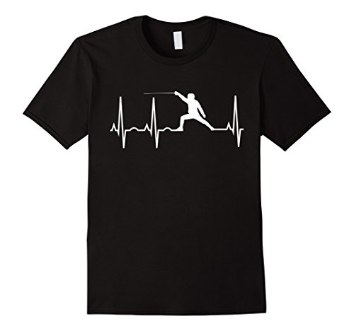 Fencing Heartbeat Shirt for Fencers - Foil Epee Saber Tee