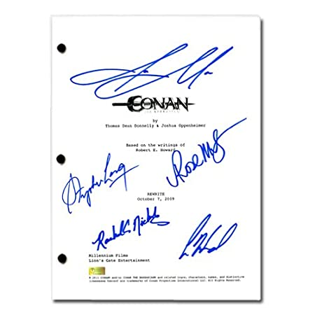 2011 Conan the Barbarian Cast Autographed Conan the
