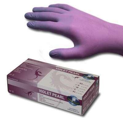 Nitril Handschuhe violett puderfrei 100 Stü ck, Gr.L STUDIOMAX