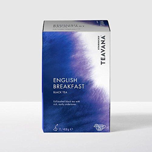 STARBUCKS TEAVANA ENGLISH BREAKFAST BLACK TEA BAGS