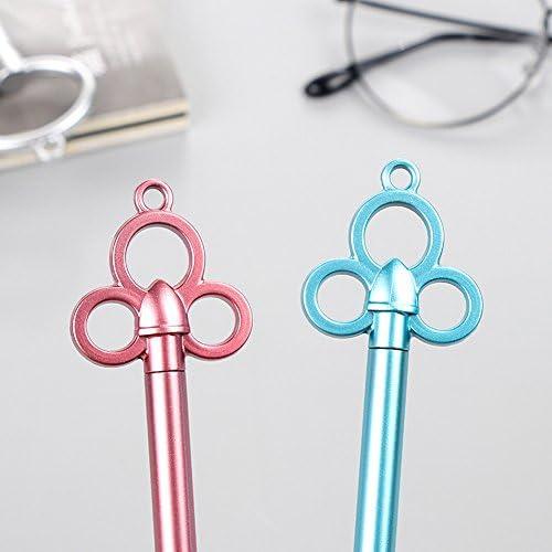 a forma di chiave in stile vintage cancelleria e ufficio CTGVH per scuola penne gel in plastica da 0,38/mm 4 colori assortiti idea regalo per ragazze e ragazzi