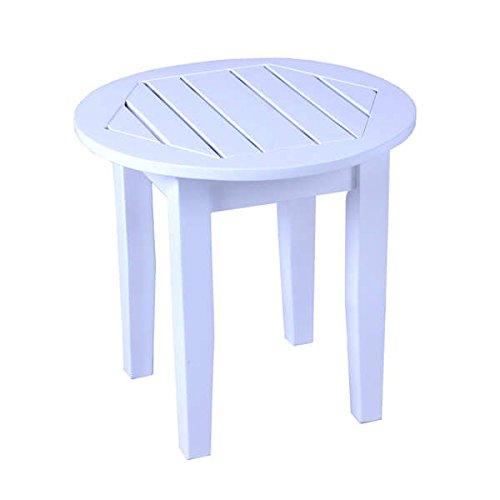 Traditional Mahogany Alston White Patio Round Side Table - (Mahogany Traditional Side Table)