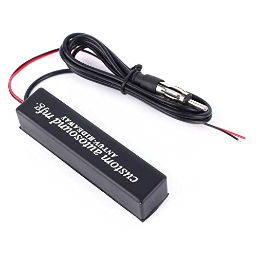 12V Car Motorcycle Stereo Radio, Keenso Universal Electronic Hidden Antenna FM AM Amplified Kit for Motor vehicles, golf carts, boats, motorcycles, ATV