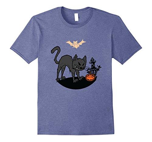 Mens Black Cat - Cool Halloween Costume 2017 T-Shirt 2XL Heather (Creative Male Halloween Costumes 2017)