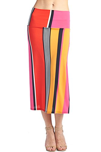 82 Days Women's Various Styles with Various Fabric Maxi Skirts - Solid & Print