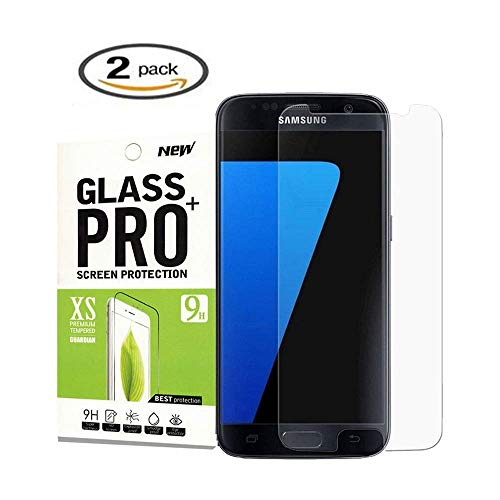 [2Pcs] Samsung Galaxy S7 Screen Protector,antsplust[9H Hardness][Bubble Free][Anti-Scratch][Case Friendly] Tempered Glass Screen Protector for Galaxy S7(Ant-X1