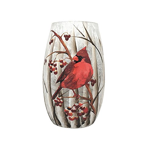 Light Cardinals Night Glass (Stony Creek Lighted Glass Vase (Extra Small (3.25