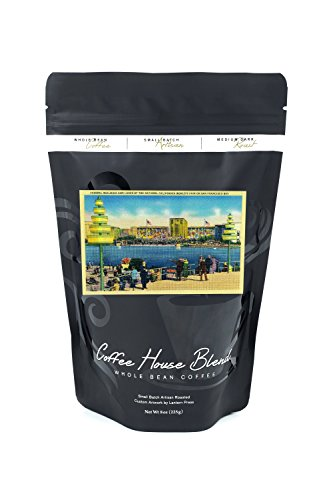 Federal Building and Lakes of the Nations, World's Fair (8oz Whole Bean Small Batch Artisan Coffee - Bold & Strong Medium Dark Roast w/Artwork)