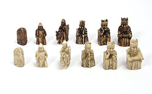 PolyStone Isle of Lewis Chess Pieces - Lewis Chess Pieces