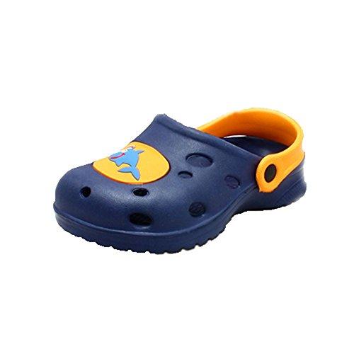 Childrens Strandschuhe Gummi-Clog-Stil mit Hai-Motiv Blau