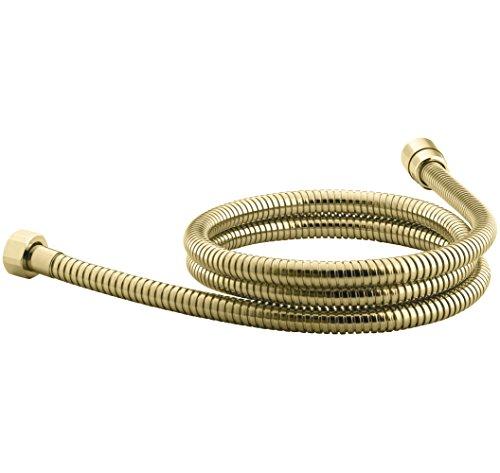 KOHLER K-9514-PB MasterShower 60-Inch Metal Shower Hose, Vibrant Polished Brass - 60in Metal Shower Hose