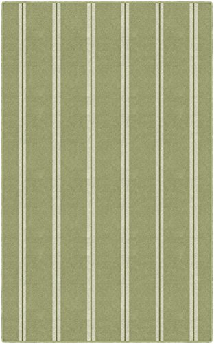 - Brumlow Mills EW10187-30x46 Vertical Green Traditional Striped Area Rug, 2'6