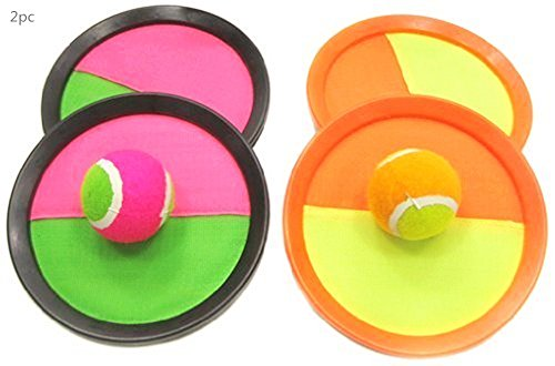 Catch Ball Paddle Game Set 2-Pack (Ball Sticks to Paddle) Catch Ball Game