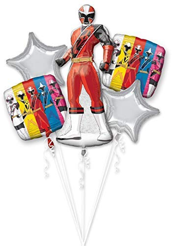 Power Rangers 4th Birthday Party Supplies 8 Guest Decoration Kit and Balloon Bouquet