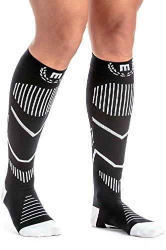 Mava Sports Compression Socks (Black & White, - Ultra Rx Amazon Male
