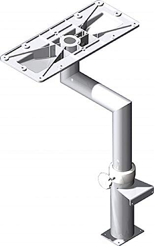 MarinersWarehouse Equipment NorSap 1750 Pedestal de Mesa, Forma de Z, mínimo 29.5 Pulgadas de Montaje de mampara/Cubierta, Adj, anodizado, Brida Cuadrada (NS1750): Amazon.es: Deportes y aire libre