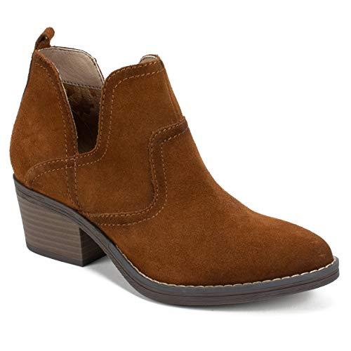 WHITE MOUNTAIN Shoes Woodcut Women's Bootie, Whiskey, 7H M