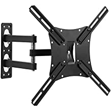 "Pinty Full Motion TV Wall Mount Bracket Tilt LCD LED Plasma Display 32"" 39"" 40"" 46"" 47"" 50"" 55"" Dual Arm (BASIC - 32""-55""; ≤55lbs (25kgs))"