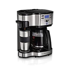 For all the coffee drinkers and aficionados in search of an affordable, low maintenance coffeemaker that can brew a basic or premium roast coffee in a fraction of the time and cost as the coffeehouse: Meet the Hamilton Beach 2-Way Brewer. Vol...