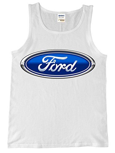 Ford Logo Tank Top, XL White
