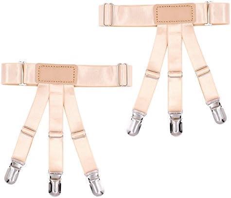 レッグガーター レッグリング 太もも メタル グリップ リング ガーターベルト メンズ 伸縮性 滑り止め 二件セット
