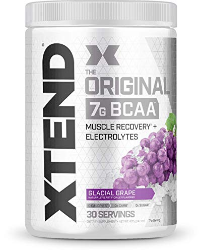 Bcaa Creatine Powder - Scivation Xtend BCAA Powder, 7g BCAAs, Branched Chain Amino Acids, Keto Friendly, Glacial Grape, 30 Servings