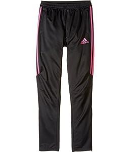 adidas Youth Soccer Tiro 17 Training Pants, Black/Shock Pink, Medium