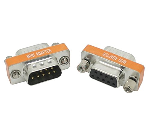 - DB9 RS232 male to female Crossover link Converter Connector , 9 pin Serial port 232 Cross wire Plug , COM port adapter