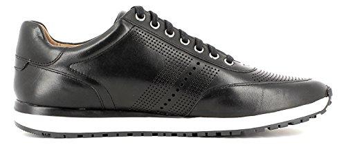Gordon & Bros Conte A150210 Elegant, Høj Kvalitet Herre Læder Sneaker, Schnürhalbschuh, Business Sneaker, Profil Sål For Erhvervslivet, Fritid Sort L