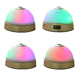 eBoTrade New Version Magic Moon & Stars Projection Projector Silent Alarm Clock 7 Color Change LED Night Light