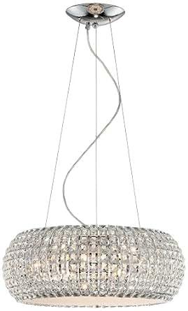 Contour Crystal and Chrome 20-Inch-W Possini Pendant Light