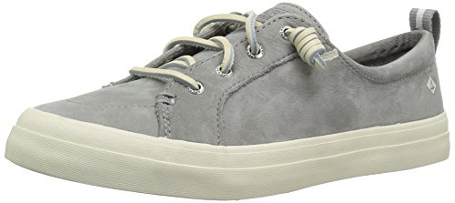 Sperry Top-Sider Women's Crest Vibe Washable Leather Sneaker, Grey, 10 M US