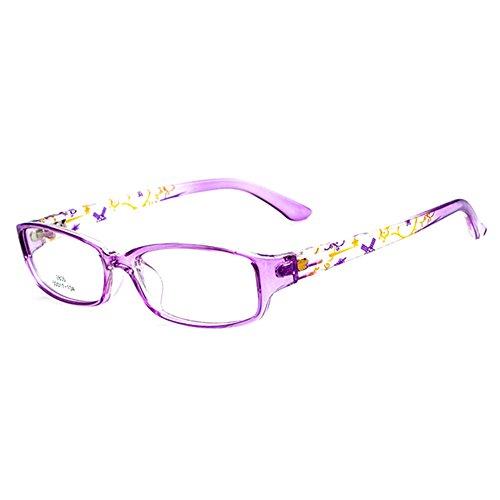 Filles Garçons Lunettes - Verres à lentilles transparentes Cadre Geek / Nerd Eyewear Lunettes avec boîtier en forme de voiture - hibote #112205 Violet