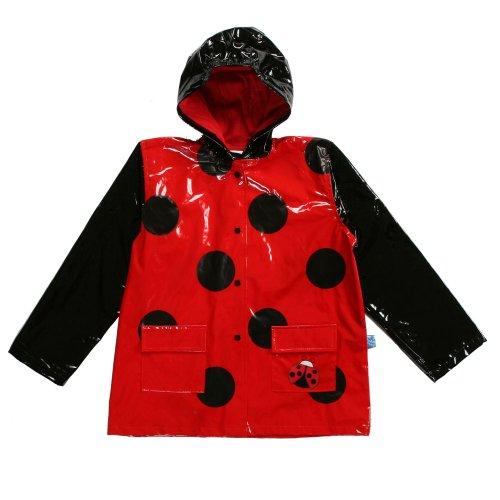 Girl's Red Ladybug Rain Coat - Sizes 4/5 and 6/7