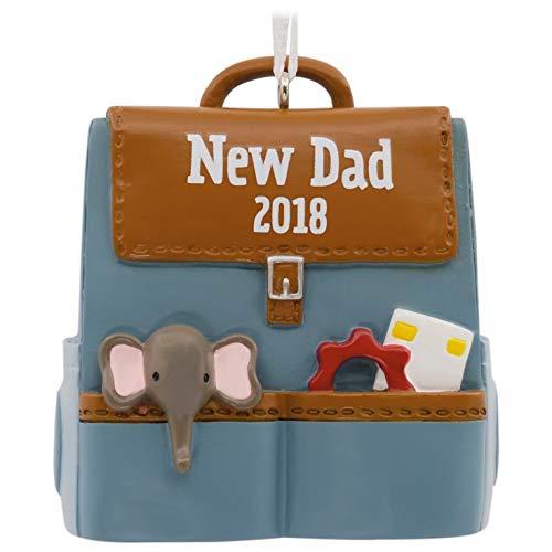 New Dad Christmas - Hallmark New Dad Diaper Bag 2018 Ornament Milestones