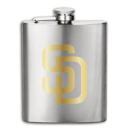 Hip Flask San Diego Padres Gold Stainless Steel Flask 8oz