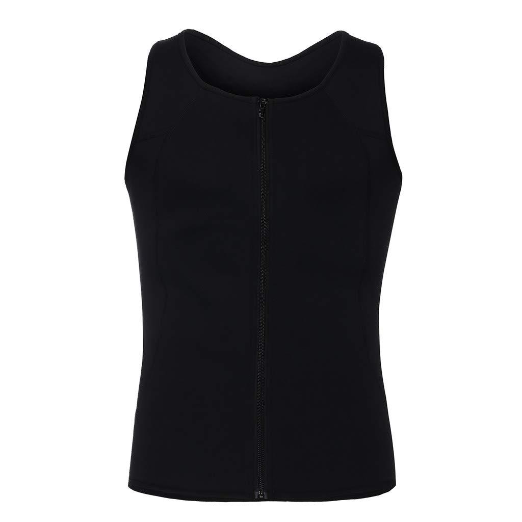 ROLYPOBI Workout Training TanksMen Neoprene Sauna Vest Sauna Ultra Sweat Shirt Body Shaper