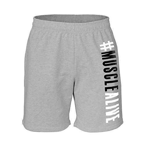 7 Spugna grey Gym Pantaloncini Cotone Gamba Musclealive New Interno Uomo Di Culturismo 5 Inseam Ma 8O0PwnkX