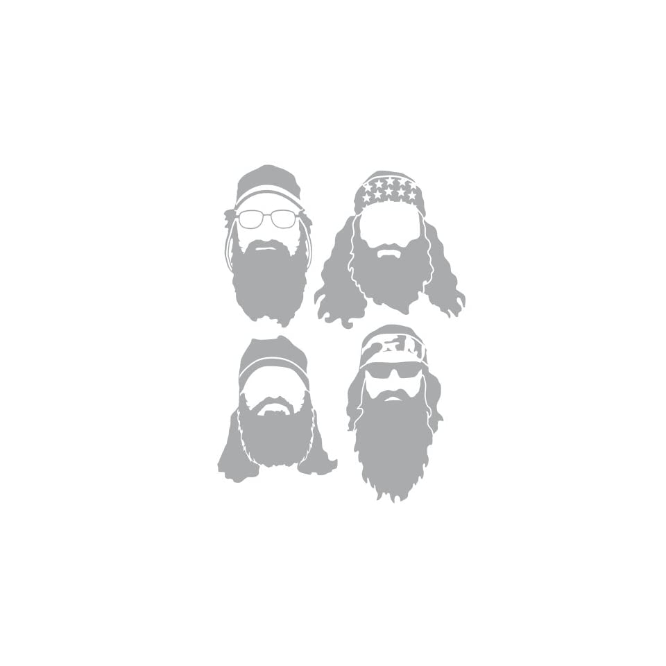 Duck Dynasty Robertsons Light Gray Silhouette Car and Truck Decal